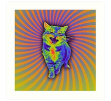 Psychedelic Kitty (Remaster) Art Print