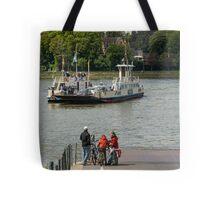 Rhine Ferry, Niederdollendorf-Bonn, NRW, Germany. Tote Bag
