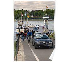 Rhine Ferry, Niederdollendorf-Bonn, NRW, Germany. Poster