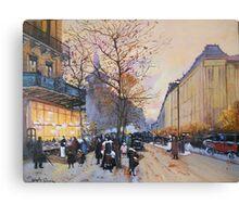 Place de la République, Paris from Eugene Galien LaLoue 1900 Canvas Print