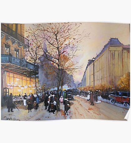 Place de la République, Paris from Eugene Galien LaLoue 1900 Poster