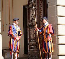 Swiss Guards at Castel Gandolfo by Segalili