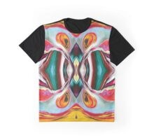 Manic Butterfly - Funky Abstract Art Graphic T-Shirt