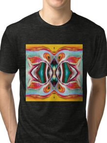 Manic Butterfly - Funky Abstract Art Tri-blend T-Shirt
