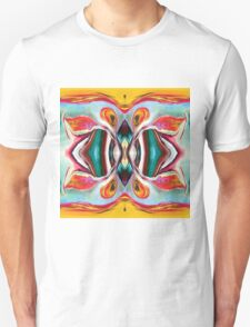 Manic Butterfly - Funky Abstract Art Unisex T-Shirt