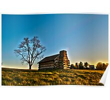 Cabin at Valley Forge Poster