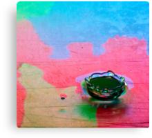 Multi-color Liquid Crown Canvas Print