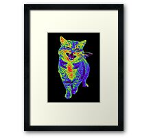 Psychedelic Cat Framed Print