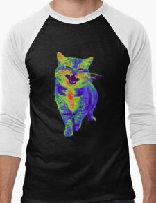 Psychedelic Cat Men's Baseball ¾ T-Shirt