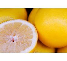 Fresh Grapefruit Photographic Print