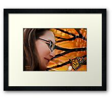 she dreamed of a butterfly dancing upon her finger....... Framed Print