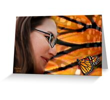 she dreamed of a butterfly dancing upon her finger....... Greeting Card