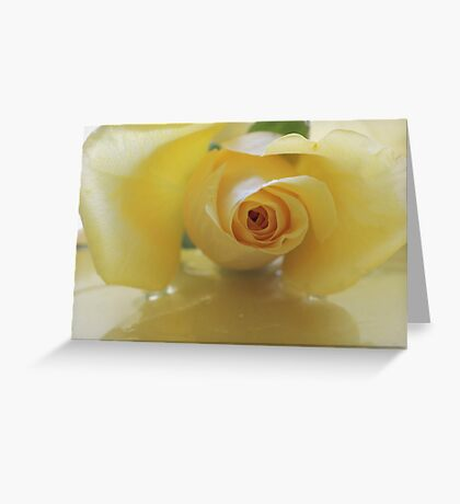 Burst of Sunshine ~ Yellow Rose Greeting Card