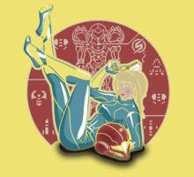Power-up Pin-up- Metroid Shirt Baby Tee