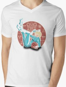 Power-up Pin-up- Metroid Shirt Mens V-Neck T-Shirt