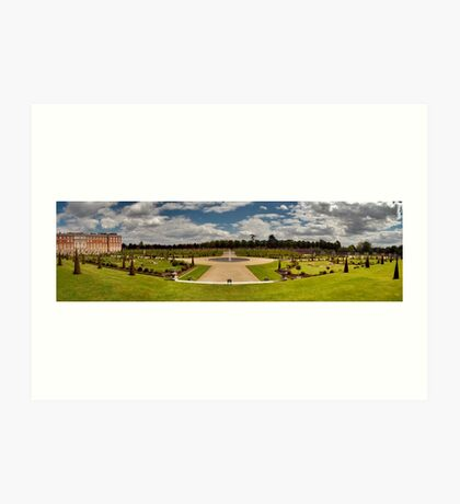 Formal Gardens of Hampton Court Palace Art Print