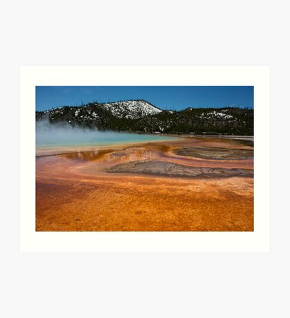 Yellowstone Colour Art Print