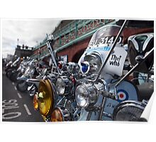 'TheWho' Lambretta parked up in Brighton Poster