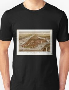 Panoramic Maps The city of New York1 Unisex T-Shirt