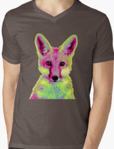 Psychedelic Fox Mens V-Neck T-Shirt