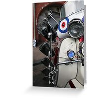 Lambretta SX200 parked and proud. Greeting Card