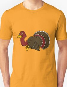 Thanksgiving Turkey with Red Feathers T-Shirt