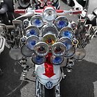 Lambretta lights with Union Jack helmet. by Phil Bower