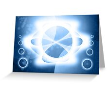 Abstract Background Space Greeting Card