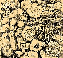 Floral Fantasy with Hamburgers by Cori Redford