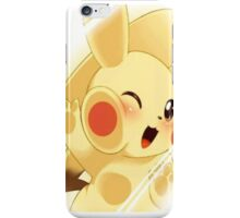 pikachu behind glass  iPhone Case/Skin