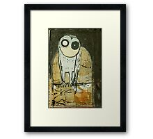 O for Owl Framed Print