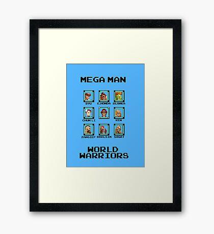 Mega Man - World Warriors Framed Print