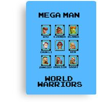 Mega Man - World Warriors Canvas Print
