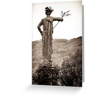 baroque guardian grain offering Greeting Card