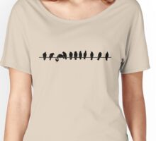 FOLLOWS THE BEAT OF HIS OWN DRUM Women's Relaxed Fit T-Shirt