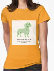 Dachshund Fact no. 4 Womens Fitted T-Shirt