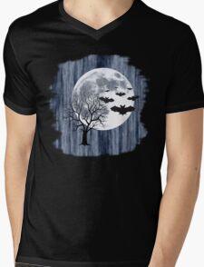 Creepy nocturnal landscape Mens V-Neck T-Shirt