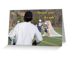 Thank You Coach Greeting Card