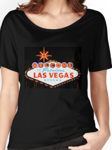 Welcome to Las Vegas Sign Women's Relaxed Fit T-Shirt