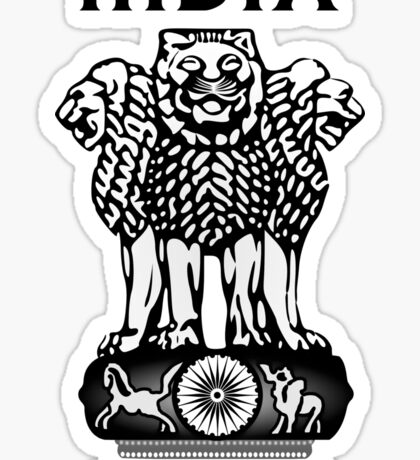India Coat of Arms Sticker