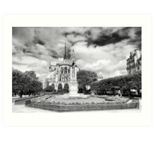 Owning the landscape - Notre Dame Paris Art Print