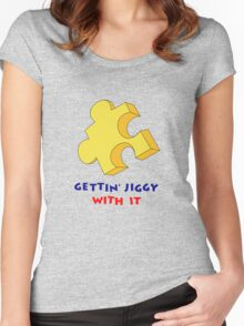Gettin' Jiggy With It Women's Fitted Scoop T-Shirt
