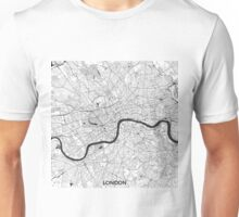 London Map Gray Unisex T-Shirt
