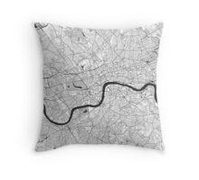 London Map Gray Throw Pillow