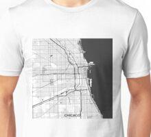 Chicago Map Gray Unisex T-Shirt