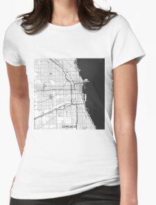 Chicago Map Gray T-Shirt