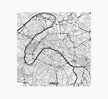 Paris Map Gray Unisex T-Shirt