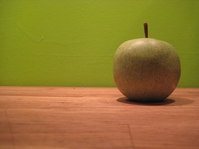 Lonely Green Apple by ceWOLFE