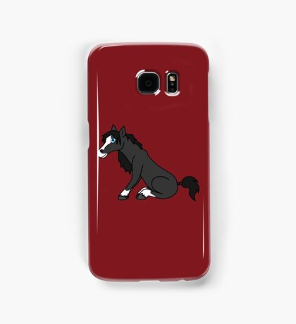 Black Horse with Blaze Samsung Galaxy Case/Skin