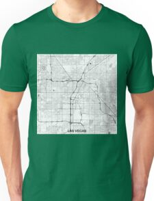Las Vegas Map Gray Unisex T-Shirt